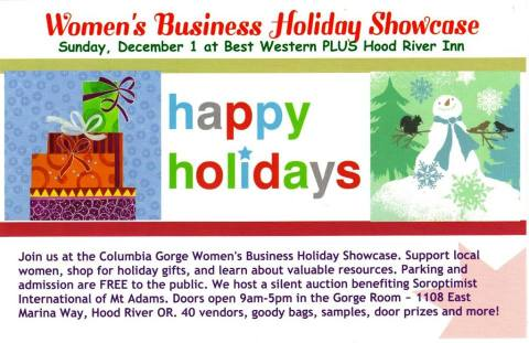 Columbia Gorge Women's Business Showcase Dec 1