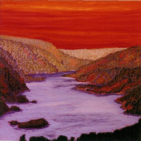 Red Sunset over Gorge