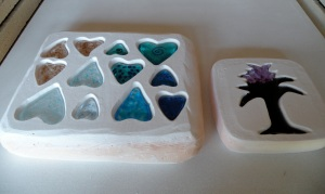 Frit Cast Hearts & Tree