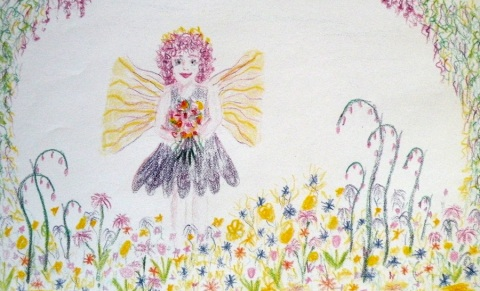 Fairy for trading with the young artists I know & love.