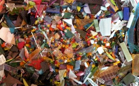 Glass scraps