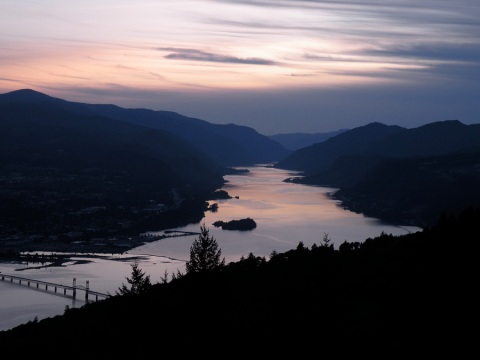 Sunset along the Columbia River Gorge