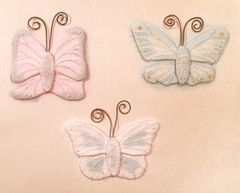 powdered butterflies