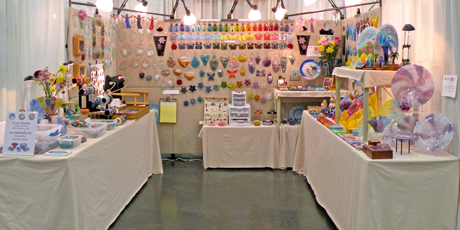 Setting up my booth for an art show steider studios blog for Used craft fair tents
