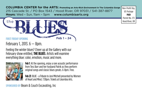 Columbia Arts_FebShow 'The Blues'_back
