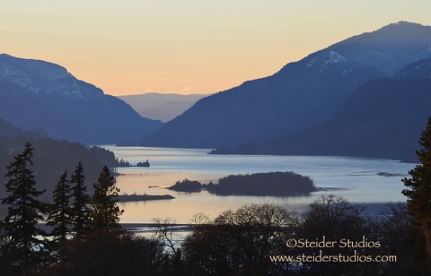 Steider Studios:  Columbia River Gorge from Skyline 1.12.13