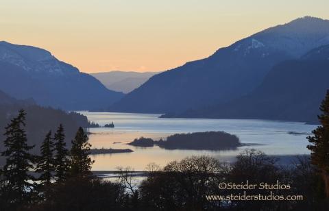 Steider Studios:  Columbia River Gorge from Skyline 1.12.13