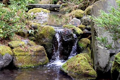 Steider Studios:  Japanese Garden. Waterfall 3