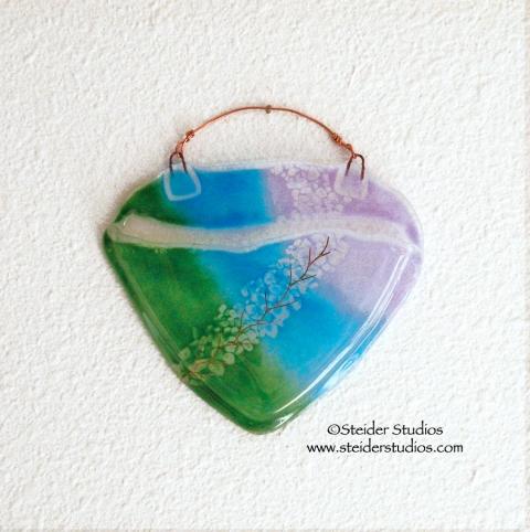 Steider Studios:  Kiln-formed Glass Wall Pocket Vase