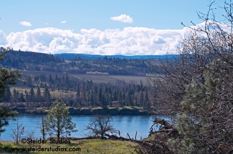 Steider Studios:  Clouds over Mosier