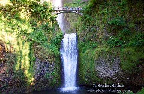 Steider Studios:  Classic Multnomah Falls