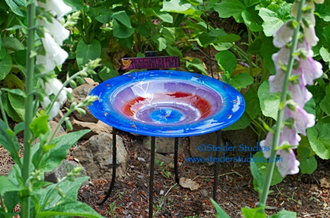 Steider Studios:  Finished Birdbath