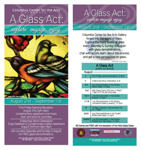 A Glass Act Show Postcard
