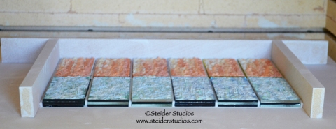 Steider Studios.3.Test Panels set up in Kiln