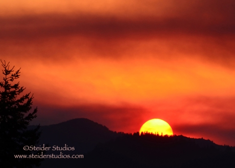 Steider Studios:  Red Sky Sunset
