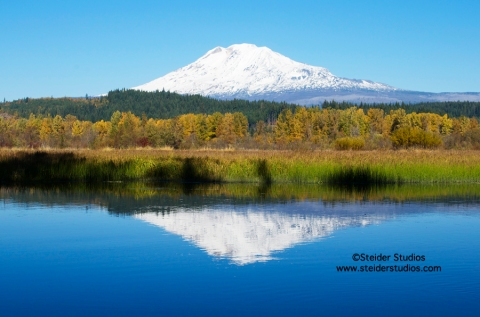 Steider Studios:  Mt. Adams over Trout Lake.  10.18.13