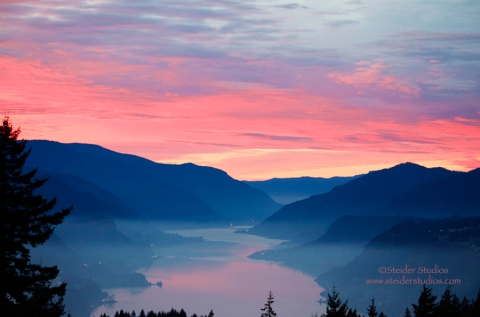 Steider Studios: Columbia River Gorge Magical Sunset