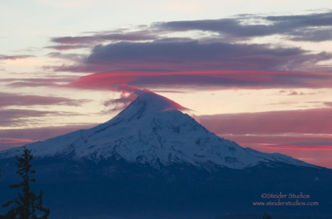 Steider Studios:  Sunset on Mt. Hood. 1.2.14