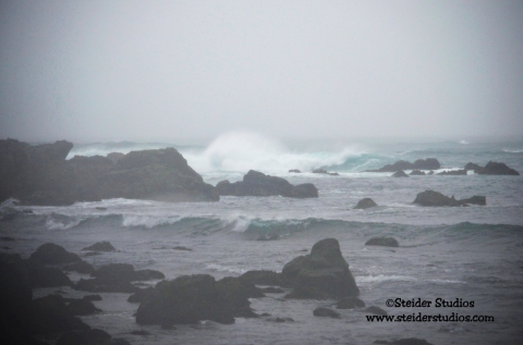 Steider Studios:  Storm at Glass Beach