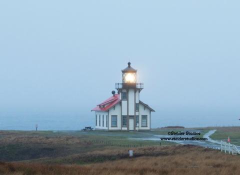 Steider Studios:  Lighthouse near Glass Beach