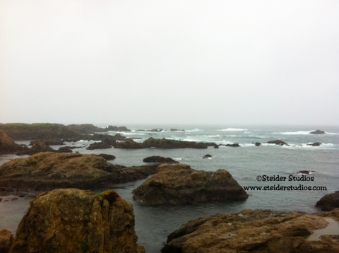 Steider Studios:  Glass Beach Coastline