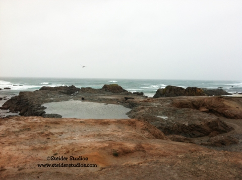 Steider Studios:  Rain and Mud at Glass Beach