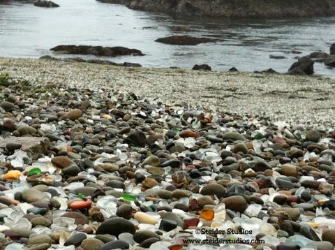 Steider Studios:  Low Tide at Glass Beach