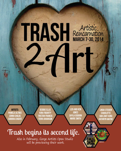 Trash-2-Art Gallery Show at Columbia Arts