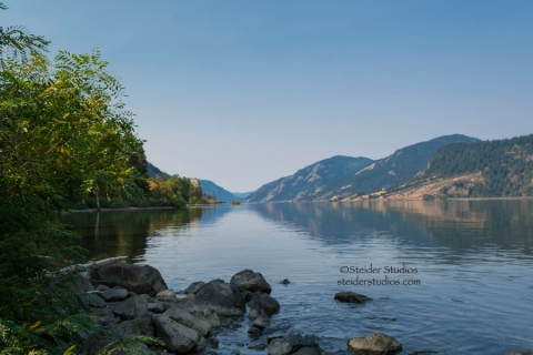 Steider Studios:  Cove on Columbia River 9.7.14