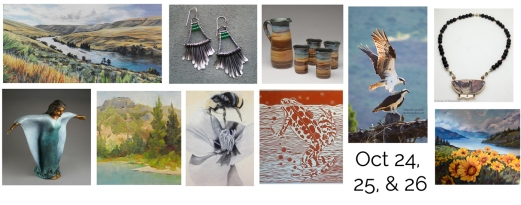 Steider Studios.White Salmon Fall Art Tour Show Card