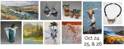 Steider Studios.White Salmon Fall Art Tour Show Card